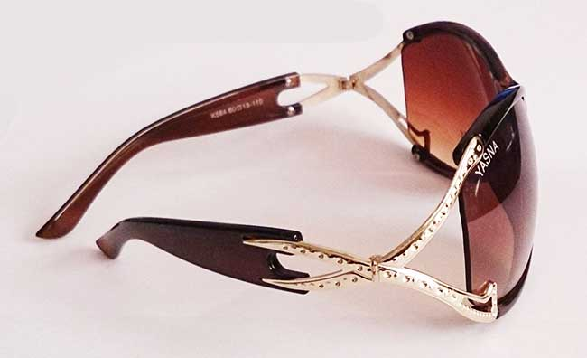 عینک زنانه قهوه ای