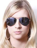 خرید عینک آفتابی زنانه ری بان نقره ای